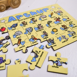 Personalised Wooden Alphabet Puzzle