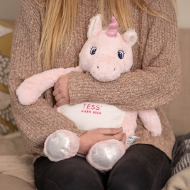 Embroidered Unicorn Hot Water Bottle