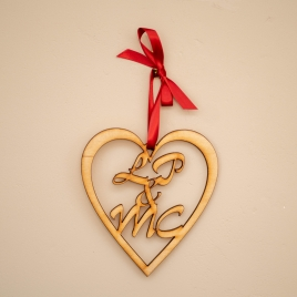 Personalised Wooden Love Heart Sign