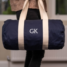 Embroidered Duffle Bag