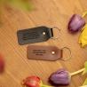 Personalised Leather Keyring