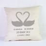 Personalised Wedding Cushion / Swans