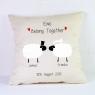 Personalised Wedding Cushion / Sheep