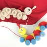 Personalised Wooden Caterpillar Pull Along Toy