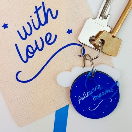 Personalised Keyring Moving Away Gift