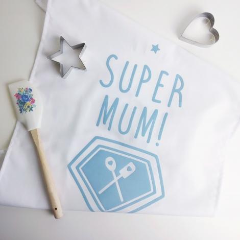 Personalised Super Mum Cotton Tea Towel