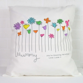 Personalised Flowers Cushion