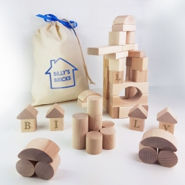 Personalised Wooden Building Blocks Gift Set