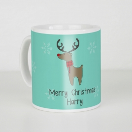 Personalised Christmas Mug With Chocolate Coins