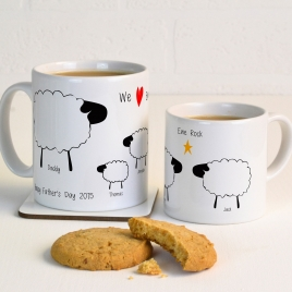 Personalised Sheep Family Mug