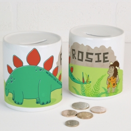 Personalised Dinosaur Money Box
