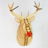 Wooden Christmas Stag Head / Rudolph