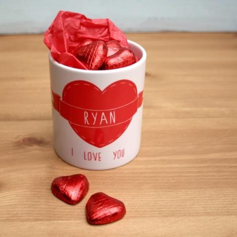 Love Heart Mugs Pair