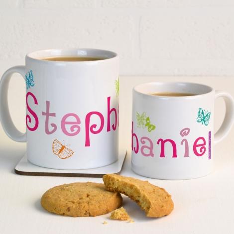 Personalised Butterflies Mug