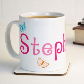 Personalised Butterflies Mug