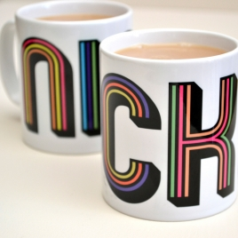 Personalised Funky Stripes Mug