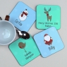 Personalised Christmas Coaster