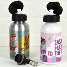 Personalised Water Bottle Super Hero