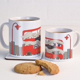 Personalised London Bus Mug