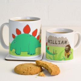 Personalised Dinosaur Mug