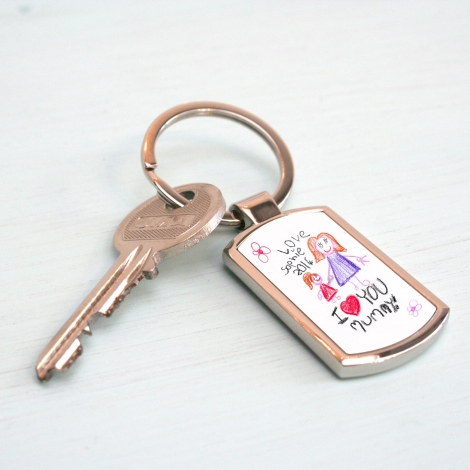 Your Child's Artwork Personalised Keyring