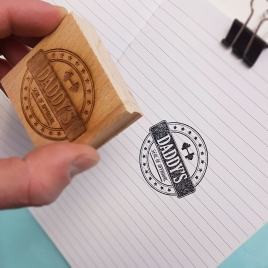 Personalised Retro Father's Day Stamp