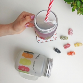 Personalised Jelly Babies Mason Jar