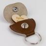 Leather Hidden Heart Message Keyring