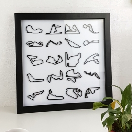 Framed 3D Racing Circuit Limited Edition