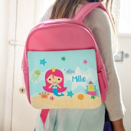 Personalised Mermaid Backpack