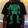 Halloween Glow In The Dark Skeleton T Shirt