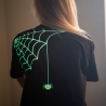 Halloween Glow In The Dark Spider T Shirt