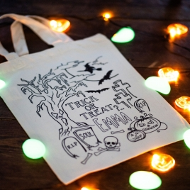 Personalised Colour In Halloween Bag