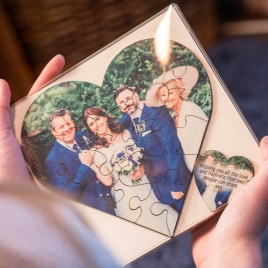 Personalised Wooden, Heart Shaped Photo Puzzle