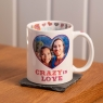 Personalised Crazy In Love Valentine Photo Mug