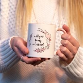 Personalised Pink Valentines Mug