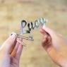 Personalised Mirror Name Keyring