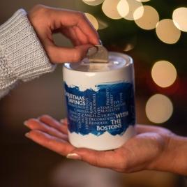 Personalised Ceramic Christmas Savings Money Box