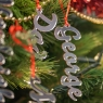 Personalised Mirror Christmas Name Decorations