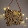 Personalised Wooden Christmas Reindeer Family Sign