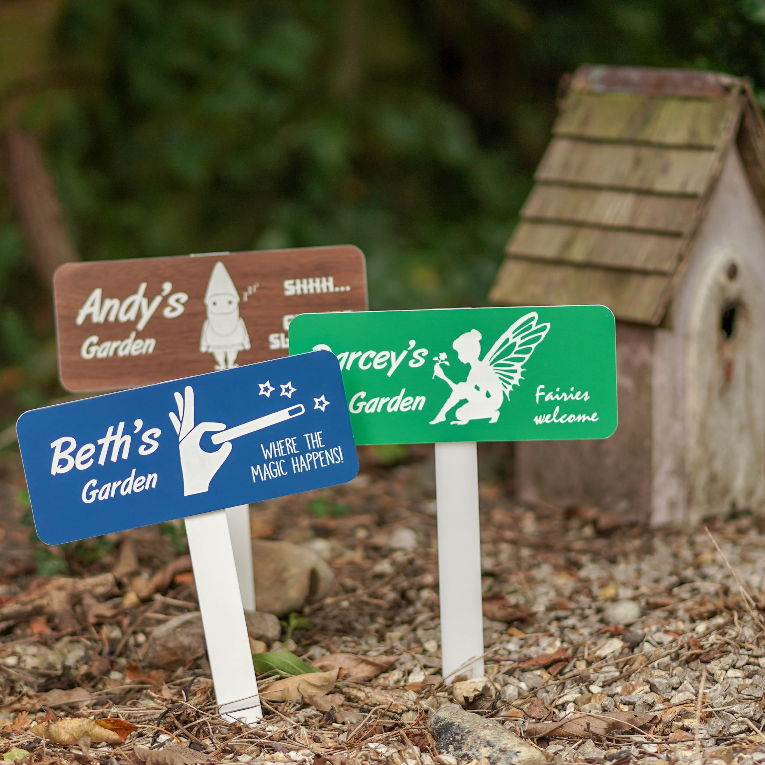 Gnome Garden Personalised Keyring