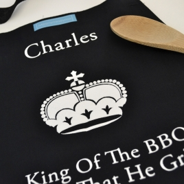 Personalised Apron 'King Of BBQ'