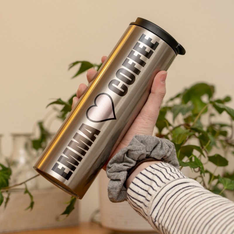 Personalised Stainless Steel Thermos Flask Giveagift