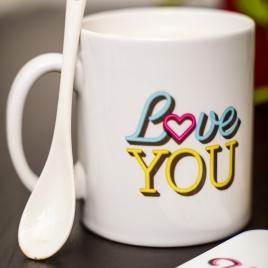 Neon Love Mug