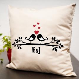 Valentines Zebra Cushion