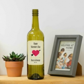 Personalised Valentines Wine Bottle Label