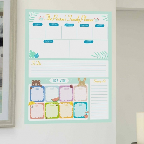 Personalised Family Planner Wipe Clean Wall Sticker