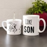 Personalised Like Father Like Son Dog Mug Set