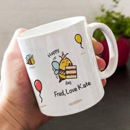 Personalised Birthday Bee Mug