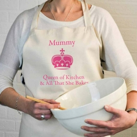 Personalised 'Queen/King Of Kitchen' Apron With Pocket